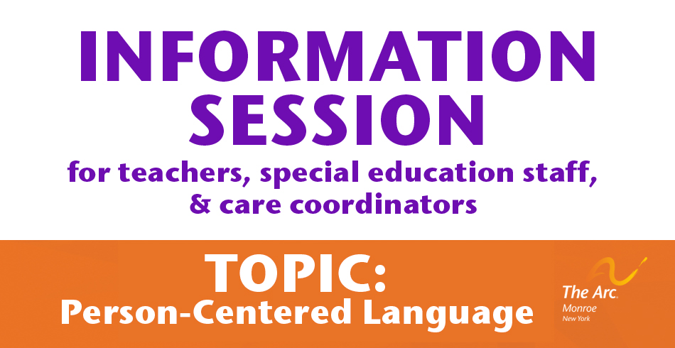 person centered language information session